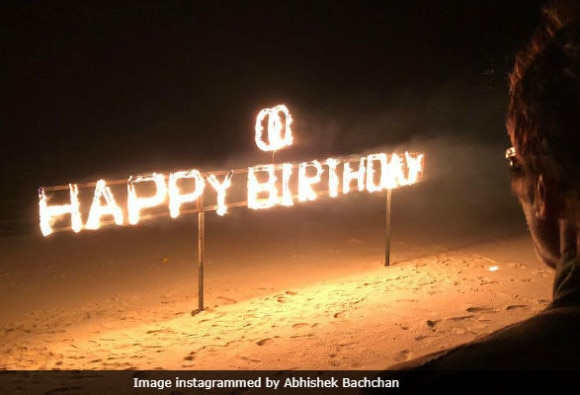 Abhishek Bachchan posted a picture from Amitabh Bachchan's birthday celebration in Maldives