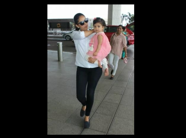 in pics: shahid kapoor's baby girl misha kapoor looks like a doll in mommy mira rajputs arms