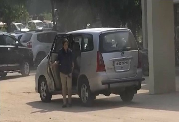 Dera Sacha Sauda chairperson Vipassana Insan reaches Panchkula Sector 23 police station for questioning
