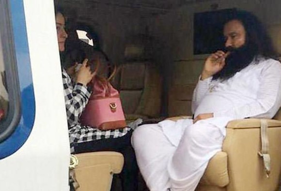 Abp news exclusive expose on honey preet presence with ram rahim in helicopter
