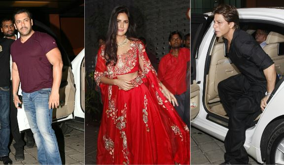 Shah Rukh Khan, Katrina Kaif and Salman Khan attends Arpita Khan's Diwali bash