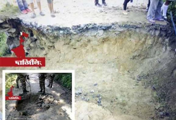 জঙ্গলমহলের মাওবাদী কায়দায় পাহাড়েও কাটা হল রাস্তা, পুলিশের কাঠগড়ায় গুরুঙ্গপন্থী মোর্চা সদস্যরা