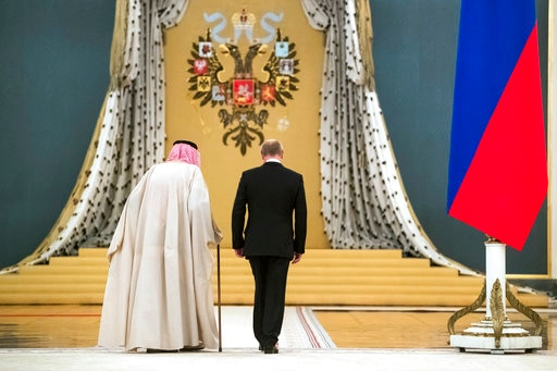 King Salman, Vladimir Putin