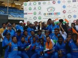 পাকিস্তানকে ২ উইকেটে হারিয়ে দৃষ্টিহীনদের ক্রিকেট বিশ্বকাপ চ্যাম্পিয়ন ভারত