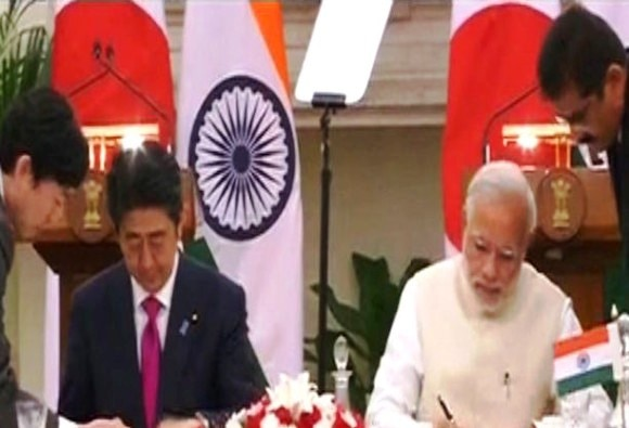 Japan inks pact to build India's first bullet train