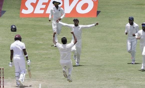 विंडीजचा डावानं पराभव, भारताचा दणदणीत विजय