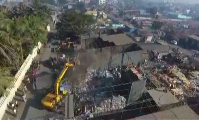 Nashik Municipal Corporation action against illegal Construction