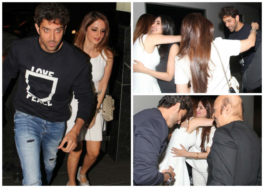 Hrithik steps out with ex wife sussanne to celebrate his birthday
