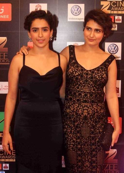 actress sanya malhotra and fatima sana shaikh during the cine awards