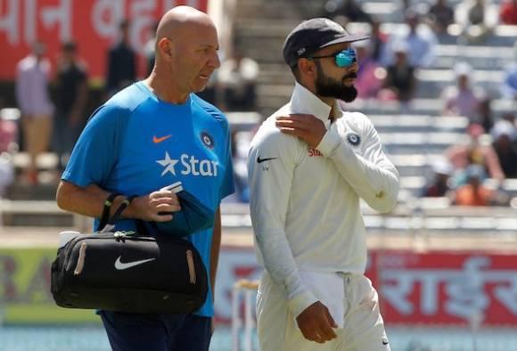 Captain Virat Kohli recuperating from shoulder strain