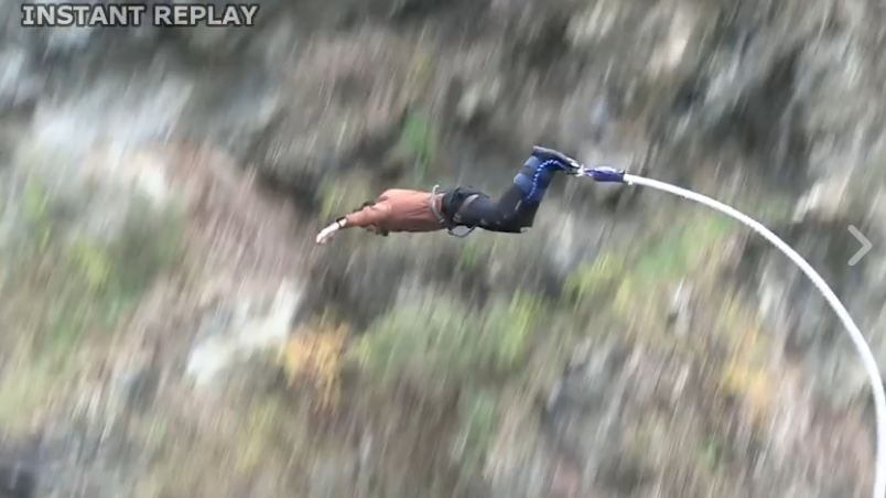 Amit thackeray's bungy jumping video