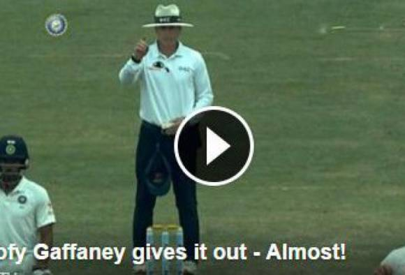 ind vs aus umpire gaffaney almost gives a heart attack to pujara others burst in laughter