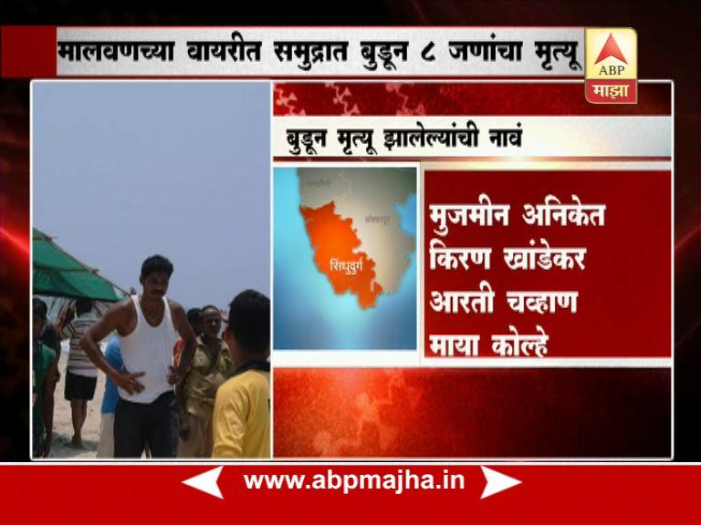 8 college students from Belgaum drown in sea off Sindhudurg coast in