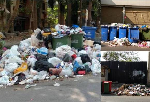 civilians constrained due to bad smell of garbage in panvel municipal corporation area