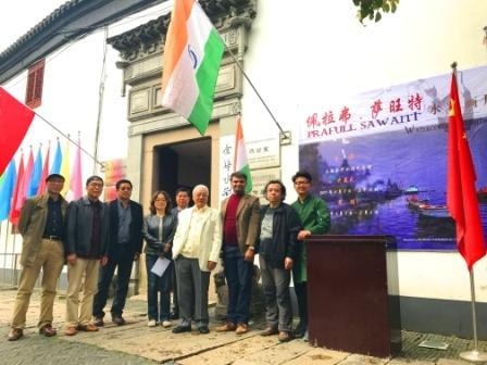 tri coular in China's historic Shonhuwa gallery