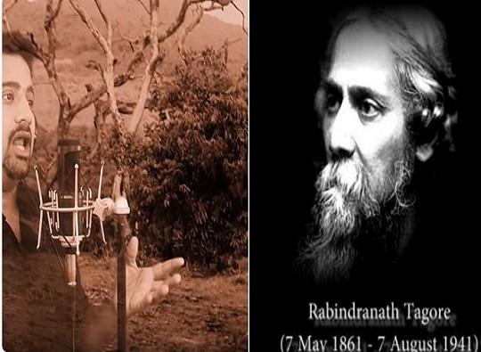 Acapella Version of Rabindranath Tagore's Ekla Chalo re by Rishabh Gokhale