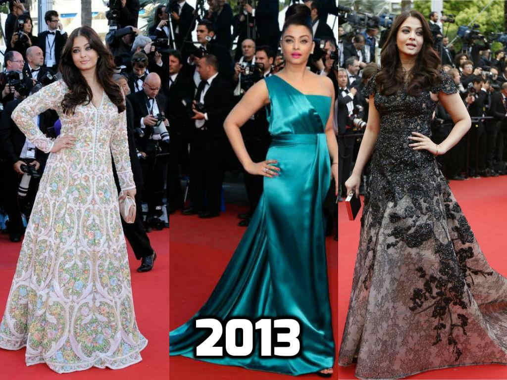 15 years of cannes queen aishwarya rai bachchan on the red carpet