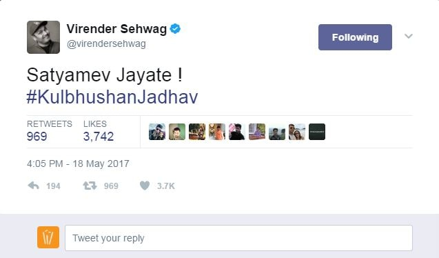 virender sehwags slams pakistan national for spreading hatred on twitter