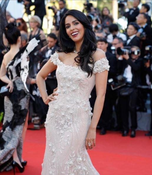 mallika sherawat walks the red carpet in Cannes Film Festival