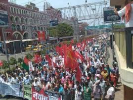 पश्चिम बंगालमध्ये डाव्यांचं आंदोलन, पोलिसांचा लाठीमार