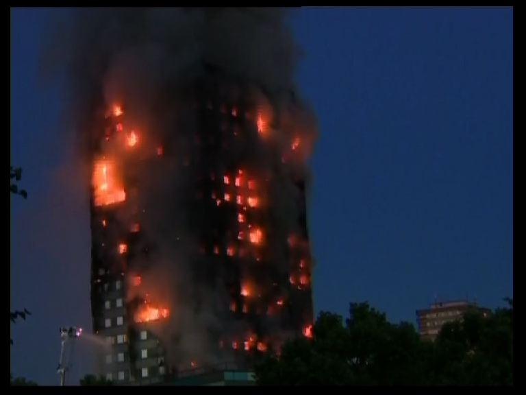 big fire in west london in pics