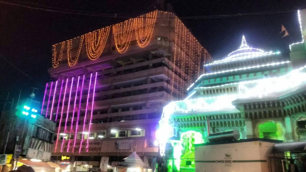 Lighting on Viththal Rakmini Temple in Pandharpur