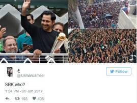 कोण शाहरुख? सरफराजच्या लोकप्रियतेवरुन चाहत्याचा माज