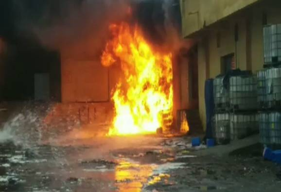 chemical company fire in bhiwandi