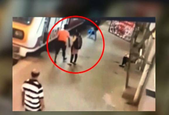 Mumbai : CCTV Footage Of A Girl Molestation AT Churchgate Station