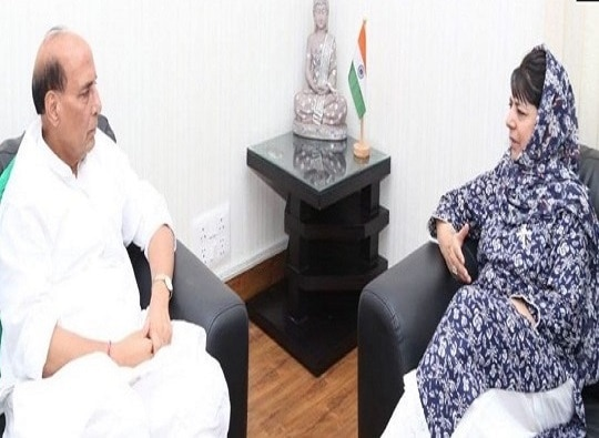 Mehbooba Mufti meets Rajnath, accuses China of meddling in Kashmir latest update