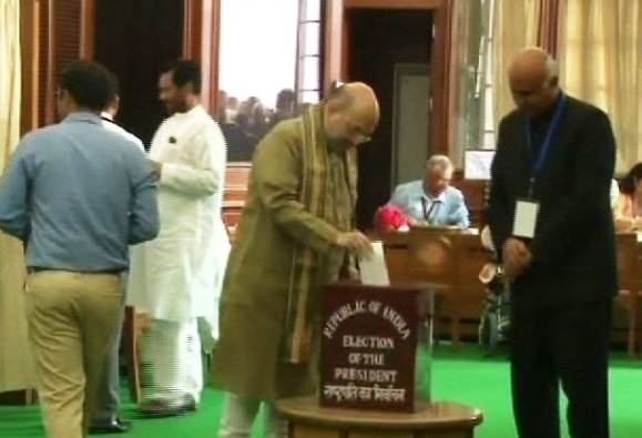 presidential election india : Amit Shah cast his vote