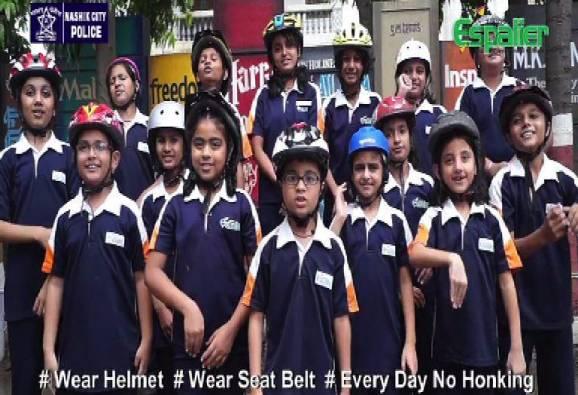 nashik school childrens sang sonu song for traffic awareness latest news updates