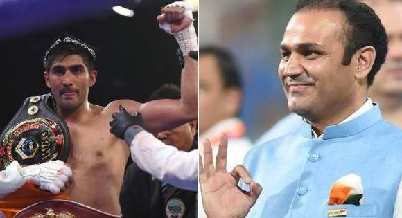 virenda sehwag tweet on vijender singh victory latest updates