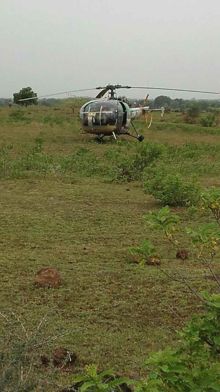 emergency landing of helicopter in jalna
