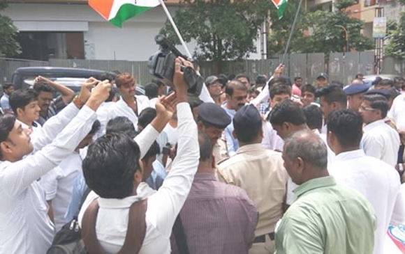 conflict between NCP-BJP over Nilu Phule auditorium inauguration