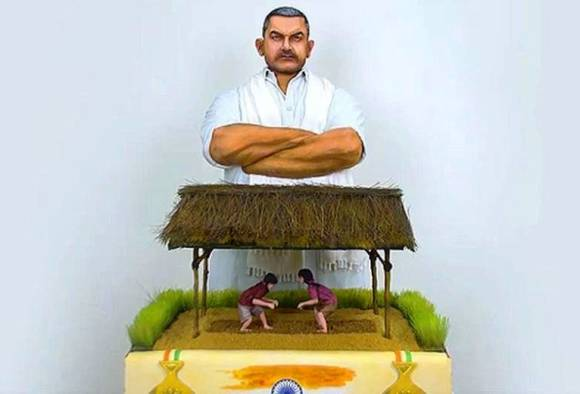 dangal theme special cake by broad way bakery on eve of India's freedom 70 years