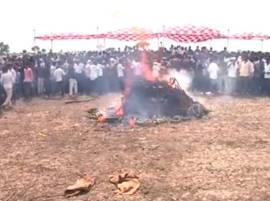 महाराष्ट्राचा वीरपुत्र अनंतात विलीन, शहीद सुमेध गवईंवर अंत्यसंस्कार