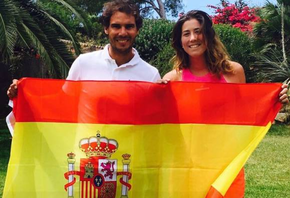 Tennis star Garbine Muguruza joins Rafael Nadal as World No 1