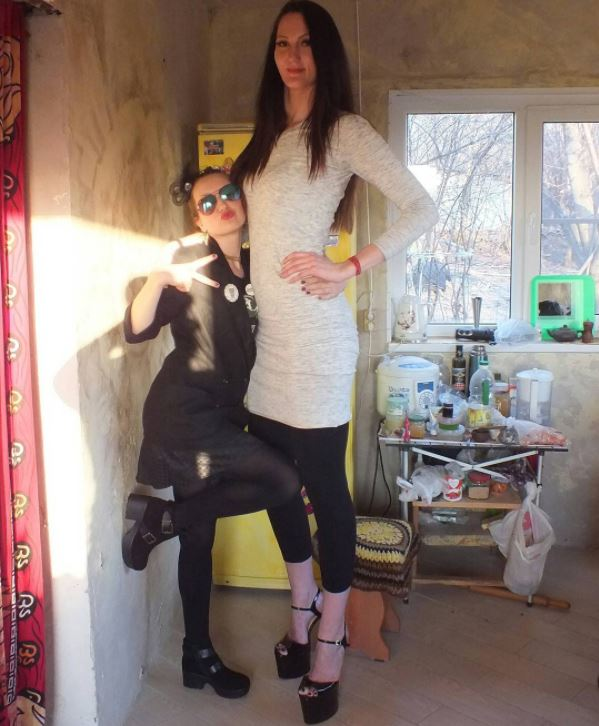 Russian model with the world longest legs latest photo
