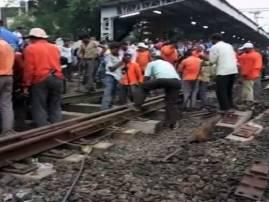 मुंबई-गुजरात रेल्वे वाहतूक दीड तास उशिरा