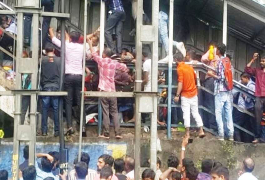 Mumbai : Stampede at Elphinstone railway station