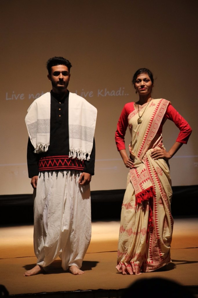 mgm khadi centre fashion show on Gandhi jayanti