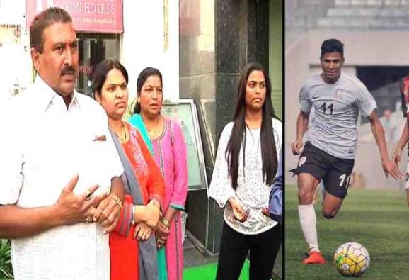 Aniket Jadhav's family exclusive interview before football match latest update
