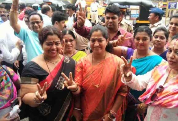BJP winning candidate Jagruti Patil wanted to join Shivsena , but leeladhar Dhake opposed