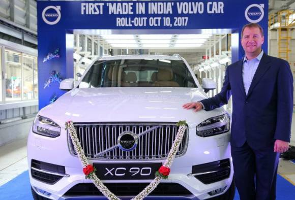 first made in india volvo car rolls out
