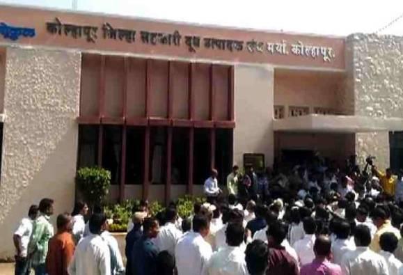 Congress Morcha against Gokul milk rate cut