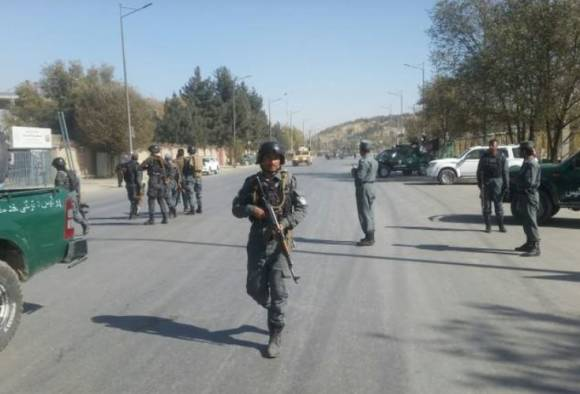 A private television station in the Afghan capital came under terrorist attack on Tuesday