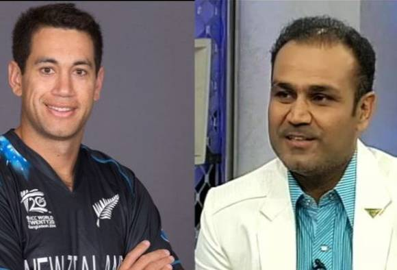 Before leaving India Ross Taylor revealed his hindi banter with Virender Sehwag