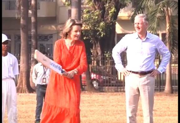 Belgium's King Philippe and Queen Mathilde plays Cricket at Mumbai's Oval Stadium latest update