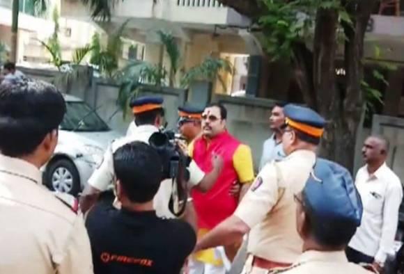 Rajput karni sena protest against Padmavati near Bhansali's house
